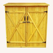 "4'11"" W x 2'7"" D Wood Lean-To Shed"