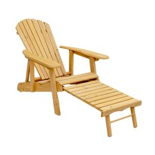 <strong>Leisure Season</strong> Reclining Adirondack Chair with Pull-Out Ottoman