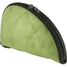 Faux Suede Pistol Case in Green