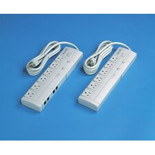 6 Outlet Surge Suppressor with 6 Foot Power Cord