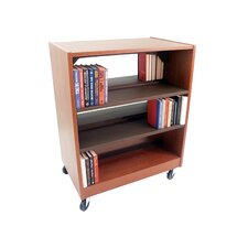 <strong>Paragon Furniture</strong> Double Face Mobile Shelving Unit with Deflecta-Stops and Casters
