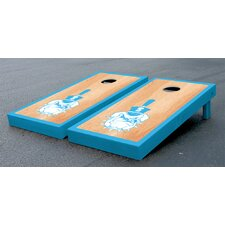 NCAA Hardcourt Wooden Cornhole Game Set