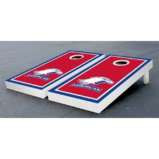 NCAA Border Wooden Cornhole Game Set
