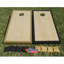 <strong>Victory Tailgate</strong> Alternating Border Cornhole Bean Bag Toss Game