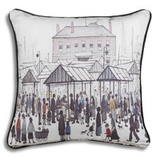 The Lowry Market Scene Cushion