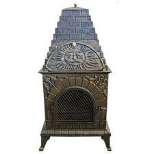 <strong>Deeco</strong> Aztec Allure Pizza Oven Outdoor Fireplace