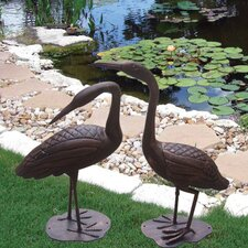 <strong>Deeco</strong> Birds of a Feather Crane Statue