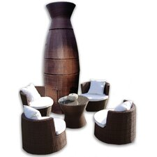 <strong>Deeco</strong> Geo-Vase Stacking 6 Piece Lounge Seating Group with Cushions