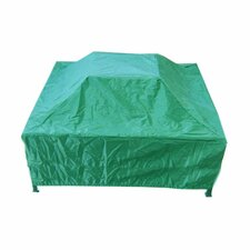 <strong>Deeco</strong> PVC Coated Oxford Fabric Square Fire Pit Cover