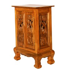 <strong>EXP Décor</strong> Handmade Royal Thai Elephant Storage Cabinet / Nightstand