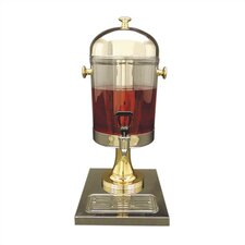 2 Gal. Juice Dispenser in Stainless Steel and Brass