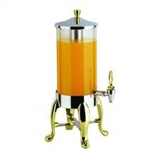 2 Gallon Deluxe Juice Dispenser with Brass Legs