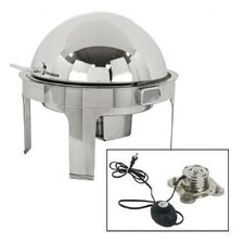 Classic Empire Style Round Chafing Dish with Magnetic Electric Heater