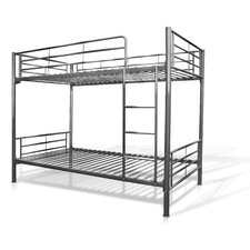 <strong>Elite Products</strong> Twin over Twin Bunk Bed with Built-In Ladder