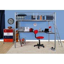 Modern Loft Twin Loft Bed with Desk