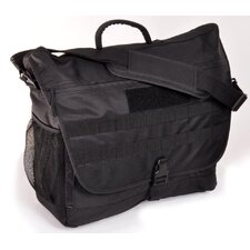 Frag Bag II Messenger Bag in Black