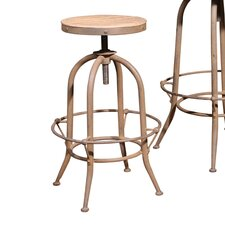 "Industrial 30"" Adjustable Bar Stool"