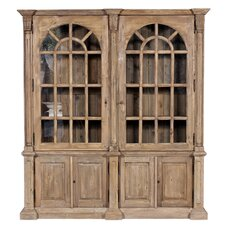 """Double Arched 85.75"""" Bookcase"""
