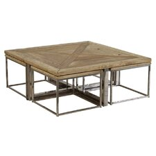 <strong>Furniture Classics LTD</strong> Coffee Table with Nested Stools