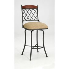 "Megan 26"" Swivel Bar Stool with Cushion"