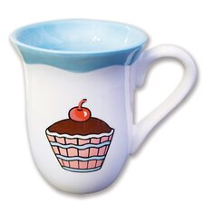 Everyday Cupcake Ruffles Mug (Set of 4)