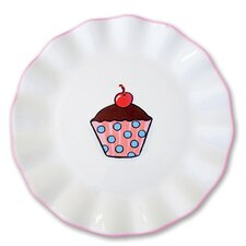 "Everyday Cupcake 7"" Polka Dots Plate"