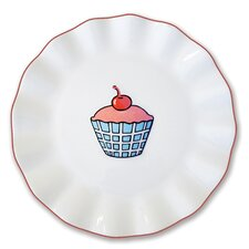 "Everyday Cupcake 7"" Plaid Plate"