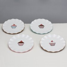 <strong>Omniware</strong> Everday Cupcake Assorted Plates (Set of 4)