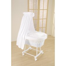 Topaz Wicker Drape Crib in White