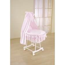 Sweety Wicker Drape Crib in Pink