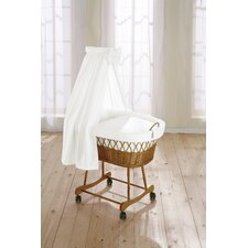 Wendy Wicker Drape Crib in White
