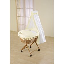 Baby Wicker Drape Crib