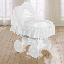 Noblesse Wicker Hood Crib in White