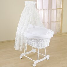 Flora Wicker Drape Crib in White