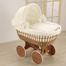 Wendy Wicker Hood Crib in Cream