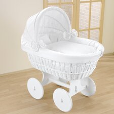 Topaz Wicker Hood Crib in White