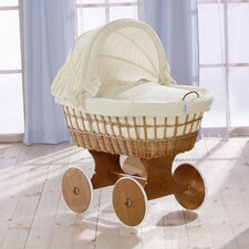 Naturell Wicker Hood Crib