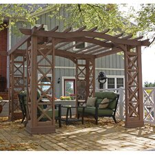 "Arched Roof 8' 2"" H x 12' W x 14' 1"" D Pergola Kit"