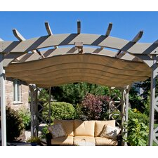 "6"" H x 12' W x 14' D Retractable Pergola Sunshade"