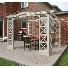 "Arched Roof 8' 2"" H x 12' W x 12' D Pergola Kit"