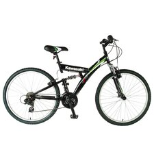 <strong>Kawasaki</strong> KDX126FS Men's Dual Suspension 21-Speed Mountain Bike