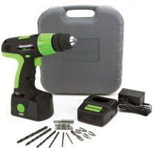 18V 1 Speed 20 Piece Cordless Drill Kit in Black