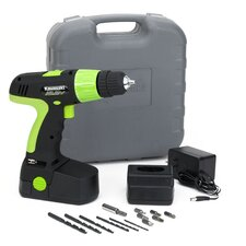 19.2V 20 Piece Cordless Drill Kit in Black