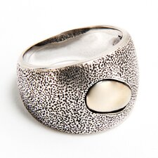 Sterling Silver and Brass Inset Ring