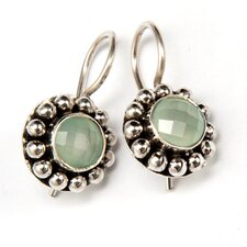 Aquamarine Blue Gemstone Sterling Silver Earrings