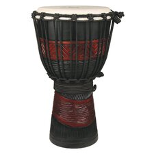 Youth Djembe / Drum in Red and Black