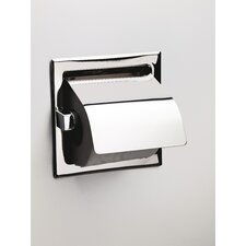 Recessed Toilet Roll Holder with Flap
