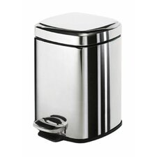 Gedy 3-Litre Square Pedal Rubbish Bin