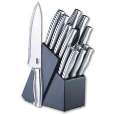 15 Piece Knife Block Set in Stainless Steel