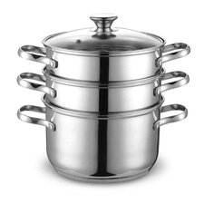 <strong>Cook N Home</strong> 4 Piece Stainless Steel Steamer